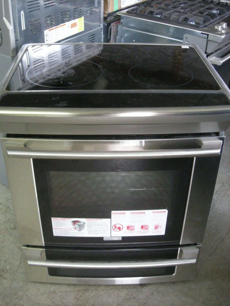 Electrolux convection slide in electric range